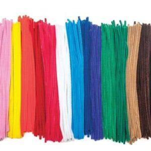 מנקה מקטורות צבעוני מעורב 100 יח`