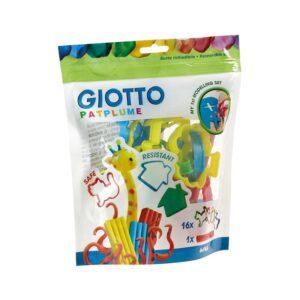 סט של 16 חותכנים מפלסטיק בדגמים משתנים לעיצוב וחיתוך פלסטלינה, בצק משחק חימר או דאס. כולל מערוך פלסטיק.
