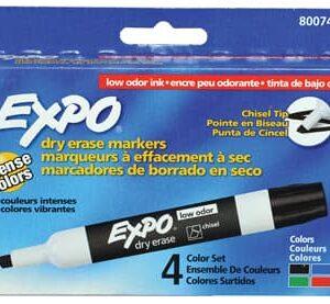 טוש ללוח מחיק- 4 צבעים במארז EXPO