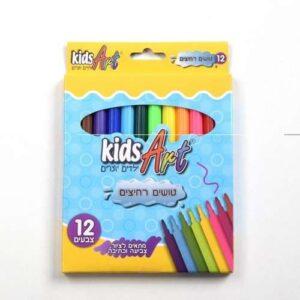 טושים רחיצים 12 צבעים