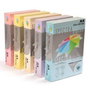 נייר צילום בצבעי פסטל עובי 80 גרם גודל A4 בחבילה 500 דף